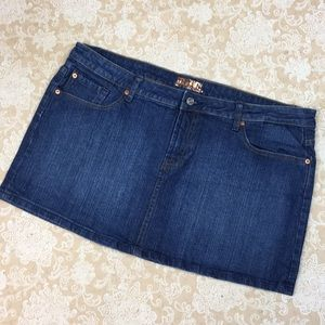 Bitten By Sara Jessica Parker Denim Mini Skirt